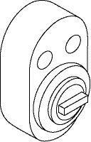 SD5938 sylinderforlenger oval bakkantfeste