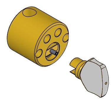 SY5573/SY5573M s-rund knappsylinder