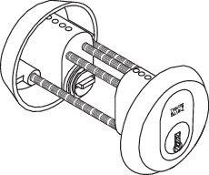 SY1245C oval dobbel sett