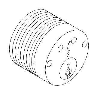 SD5578 utvendig sylinder rund