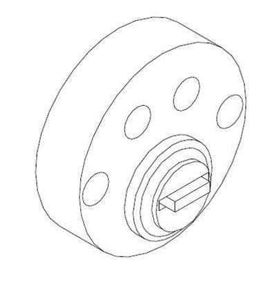 SD5939 sylinderforlenger rund