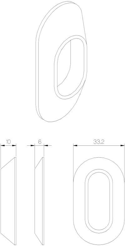 SD5967 sylinderkappe oval